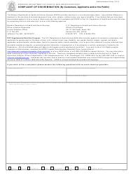 """Form MO580-2068 """"Complaint of Discrimination (By Customers, Applicants and/or the Public)"""" - Missouri"""