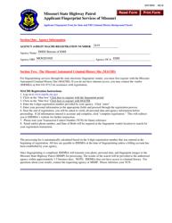 "Form SHP-984D ""Applicant Fingerprint Form for State and Fbi Criminal History Background Checks"" - Missouri"