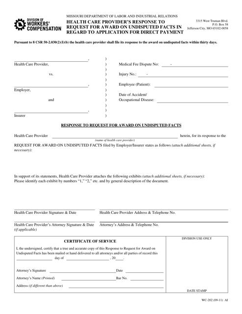 Form WC-202  Printable Pdf