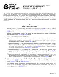 Form PW-5 Missouri Public Works Projects - Public Body Check-Off List - Missouri