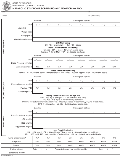 Form MO650-9399  Printable Pdf