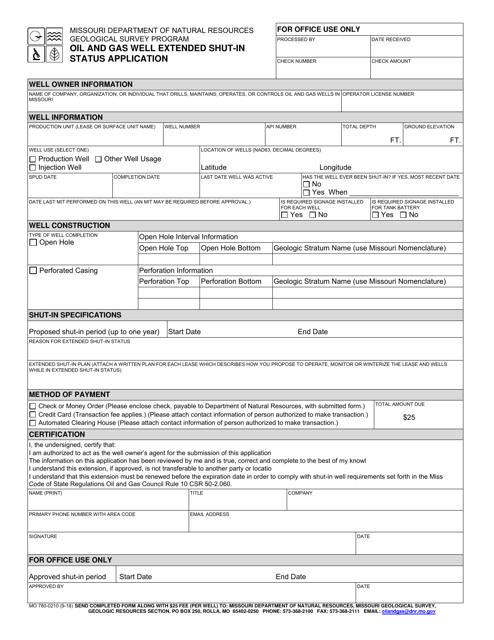 Form MO780-0210  Printable Pdf