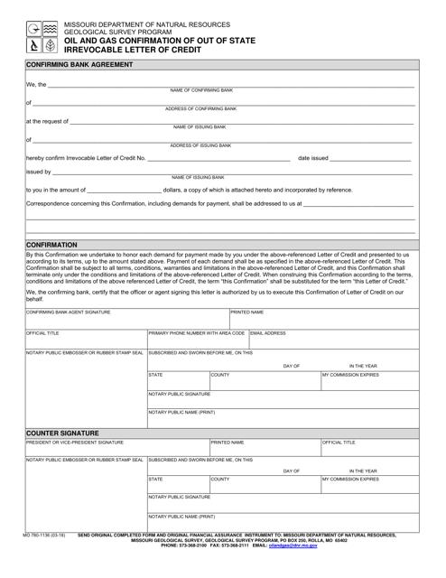 Form MO780-1136  Printable Pdf