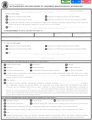 """Form MO650-2616 """"Authorization for Disclosure of Consumer Medical/Health Information"""" - Missouri"""