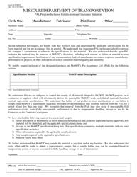 "Form M-STMNT ""Pal Program Inclusion Certification and Guarantee Statement"" - Missouri"