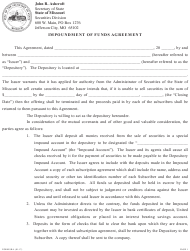 "Form SR-4 ""Impoundment of Funds Agreement"" - Missouri"