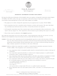 """Form CORP.52 """"Articles of Incorporation of a Nonprofit Corporation"""" - Missouri"""