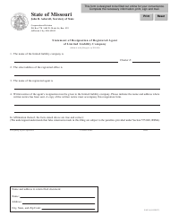 Form LLC-6 Statement of Resignation of Registered Agent of Limited Liability Company - Missouri