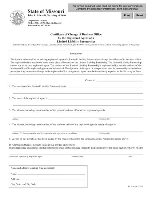 Form LLP-10  Printable Pdf