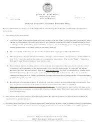 Form CA 41 Articles of Association - Missouri