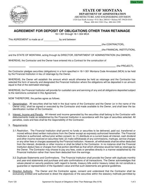 deposit form mca  Form 17 Download Fillable PDF or Fill Online Agreement for ...