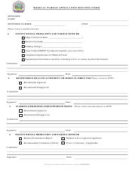 """Medical Parole Application Routing Form"" - Montana"