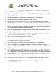 """Volunteer Service Agreement Form"" - Montana"