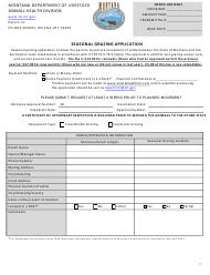 """Seasonal Grazing Application Form"" - Montana"