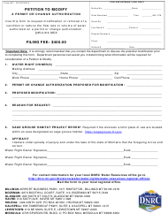 """Form 651 """"Petition to Modify a Permit or Change Authorization"""" - Montana"""