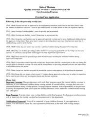 "Form DPHHS-QAD/CCL-050 ""Overlap Care Application - Care Licensing Program"" - Montana"