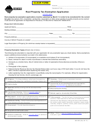Form AB-30R Real Property Tax Exemption Application - Montana
