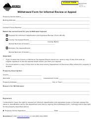 Form AB-63 Withdrawal Form for Informal Review or Appeal - Montana