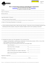 Form CAB-1 New or Expanding Industry Classification Application - Montana
