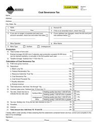 Form CST Coal Severance Tax - Montana