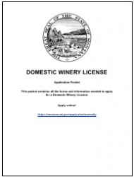 Form DWL Domestic Winery License - Montana