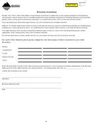 Form G-1 Grocery Inventory - Montana