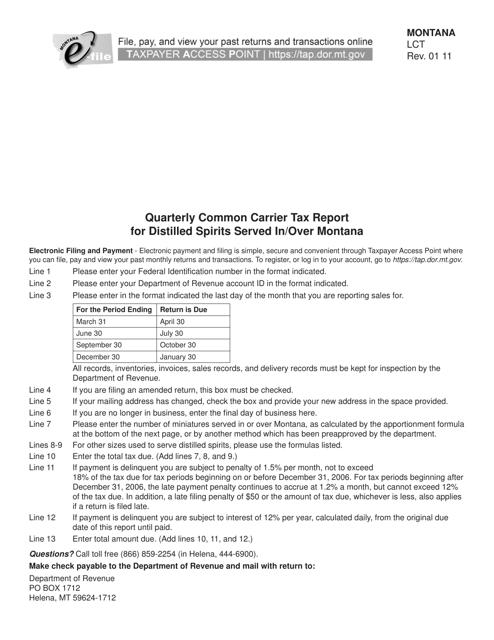Form LCT Printable Pdf