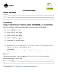 Form PGR Proof Gallon Report - Montana