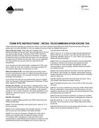 Form RTE Retail Telecommunication Excise Tax - Montana
