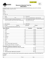 Form RIT-3 Resource Indemnity Trust Tax - Metal Mines - Montana