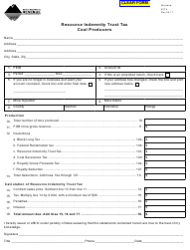 Form RIT-4 Resource Indemnity Trust Tax - Coal Producers - Montana