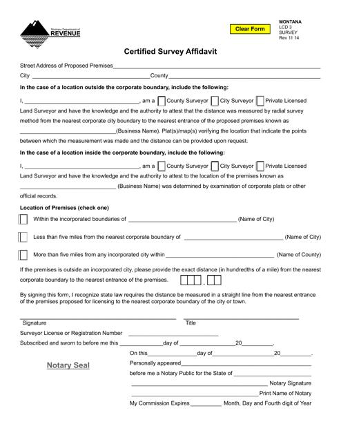 Form SURVEY  Printable Pdf