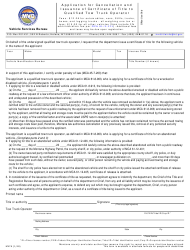 "Form MV7A ""Application for Cancellation and Issuance of Certificate of Title to Qualified Tow Truck Operator"" - Montana"