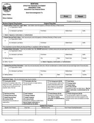 """Effective Financing Statement Amendment Form"" - Montana"