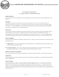 """Farm Bill Buyer Registration Form"" - Montana"