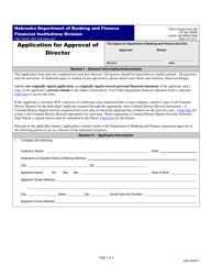 """Application for Approval of Director"" - Nebraska"