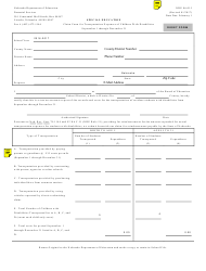 """NDE Form 06-015 """"Claim Form for Transportation Expenses of Children With Disabilities"""" - Nebraska"""