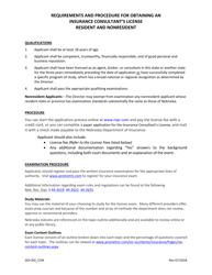 "Form DOI-1217 ""Insurance Consultant License Application"" - Nebraska"