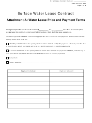 "NeDNR SW Form 310 ""Surface Water Lease Contract - Attachment a: Water Lease Price and Payment Terms"" - Nebraska"