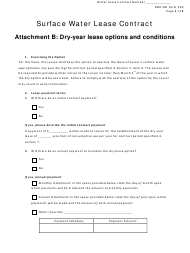 """NeDNR Form 320 """"Surface Water Lease Contract - Attachment B: Dry-Year Lease Options and Conditions"""" - Nebraska"""