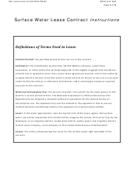 """Instructions for NeDNR Form 300 """"Surface Water Lease Contract"""" - Nebraska"""