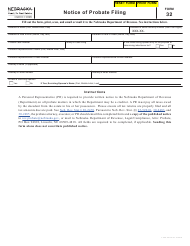 "Form 32 ""Notice of Probate Filing"" - Nebraska"