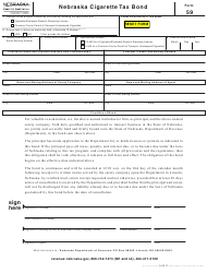 "Form 59 ""Nebraska Cigarette Tax Bond"" - Nebraska"