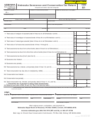 "Form 61 ""Nebraska Severance and Conservation Tax Return"" - Nebraska"