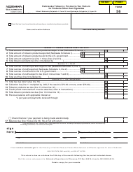 Form 56 Nebraska Tobacco Products Tax Return for Products Other Than Cigarettes - Nebraska