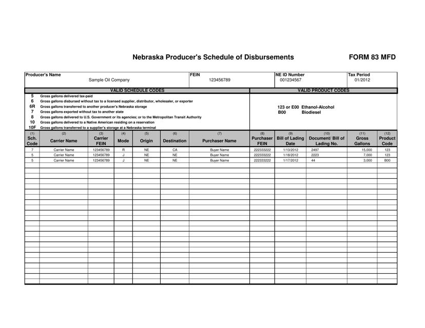 Form 83 MFD  Printable Pdf