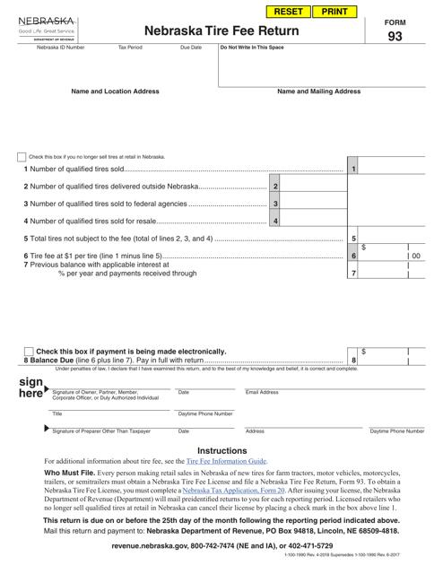 Form 93 Fillable Pdf