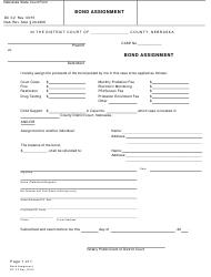 "Form DC3:2 ""Bond Assignment"" - Nebraska"