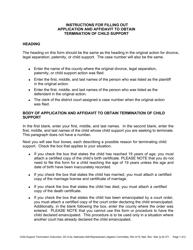 "Instructions for Form DC6:2 ""Application and Affidavit for Termination of Child Support"" - Nebraska"