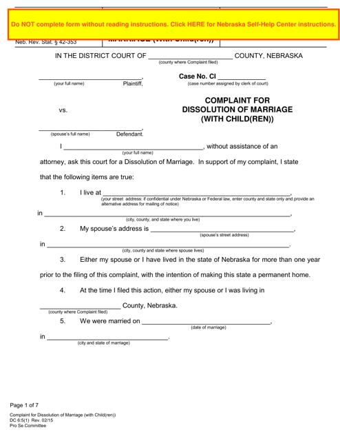 Form DC6:5(1)  Printable Pdf